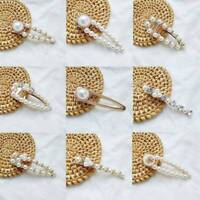 Simple Pearl Hair Clips Women Girls Fashion Sweet Elegant Pearl Accessories