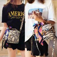 Lady Animal Print Shoulder Messenger Handbag Women Leather Crossbody Satchel Bag