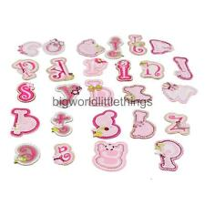 Embroidered 26 Letters Patch Alphabet Applique DIY Crafts Sewing Crafts