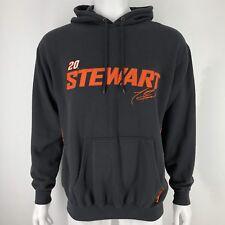 Tony Stewart Mens Hoodie Sweatshirt Nascar Racing #20 Black Orange