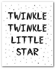 Twinkle Little Star Print, nurserie citation Art, 8 x 10 pouces, non encadrés