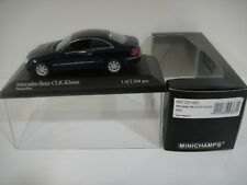 --1/43 MINICHAMPS. MERCEDES-BENZ CLK Coupé 2002. Blue Metallic.