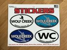 Wolf Creek sticker decal oval sheet Pagosa Springs ski snowboard helmet tablet