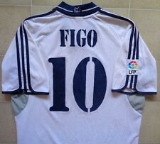 Adidas Real Madrid 00/01 Home Jersey - Figo 10. Mens L, Very Good Condition.