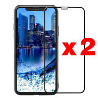 2PCS Full Coverage Tempered Glass Screen Protector For iPhone X XS Max XR 11