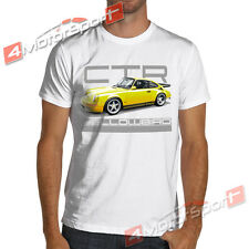 1987 Classic Ruf CTR Yellowbird Racing T-Shirt White or Gray Rally Porsche 911