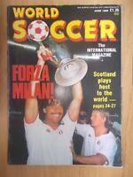 WORLD SOCCER MAGAZINE JULY 1989 - AC MILAN WIN EUROPEAN CUP