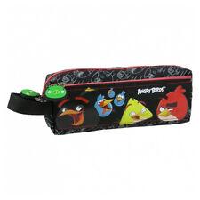 Angry Birds Lápiz Funda Escuela Niños Negro