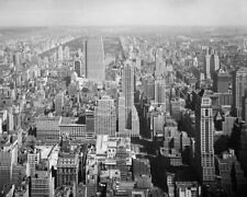 NEW YORK CITY FROM EMPIRE STATE BUILDING 11x14 SILVER HALIDE PHOTO PRINT