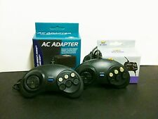 NEW 2 Controllers + RFU RF Switch + AC Power adapter for Sega Genesis 2 MK-1631