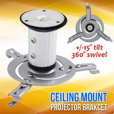 Universal Projector Ceiling Mount Bracket Tilt/360 Rotation LCD/DLP Home Theatre