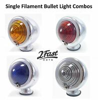 Custom Bullet Style Turn Signal Light Marker Flasher Winker Blinker 2FastMoto