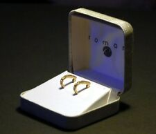 Earrings by Roman,New IN Box, Goldtone and CZ