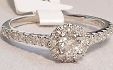 9CT WHITE GOLD 0.50CT TW DIAMOND CLUSTER RING SIZE M