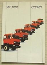 DAF 2100/2300 TRUCKS Commercial Vehicles Sales Brochure 1984