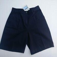 L.L. Bean Women's Size 8 Navy Blue Wrinkle Resistant Cotton Flat Front Shorts