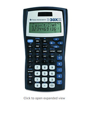 Texas Instruments TI-30X IIS Scientific Calculator, Black with Blue Accent Color