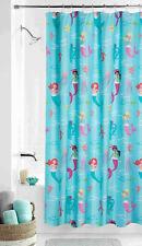 Mermaid Fabric Shower Curtain 70x72 Girls Kids Child Aqua Sealife Ocean