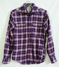 Uniqlo Purple Pink Plaid Authentic Light Flannel Shirt size XXS