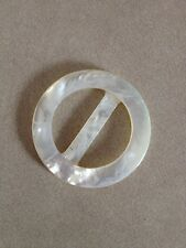 Vintage Genuine Natural Mother of Pearl Shell Belt Buckle Sewing Notion 3.5cm