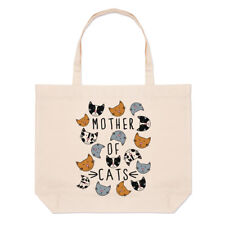 mère de gros chats plage SAC FOURRE-TOUT - Drôle Crazy Cat Lady épaule