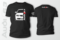AUDI S3 8L Car Auto Black T-Shirt 100% Cotton XS-5XL