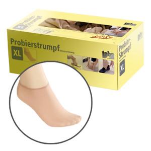 Probiersocken Probierstrümpfe Anprobierstrümpfe Hautfarben Socken Strümpfe
