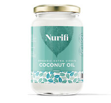 Organic Extra Virgin Coconut Oil - 1000ml - Pure, Raw & Cold Pressed Glass Jar