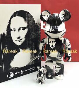 Medicom Be@rbrick Andy Warhol Double Mona Lisa 400% + 100% bearbrick set 2pcs