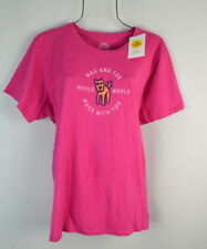 LIFE IS GOOD Womens Pink Dog Wag The World T-shirt Tee Top Size XL