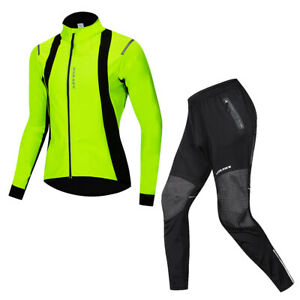 Winter Cycling Jacket & Pants Set MTB Bike Bicycle Thermal Fleece Warm Clothing