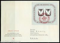 SWITZERLAND MICHEL#BL12 BASEL DOVE S/S  FIRST DAY COVER TO THUN