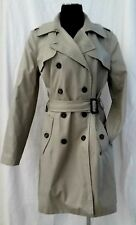 CHIC NWT Banana Republic Tan Button Belted Dress Trench Layering Jacket Blazer L