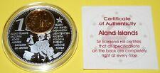 Aland Islands 1 Coin(gilded)+Medal 40mm, 31g, Proof Like + Zertifikat