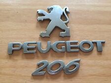 PEUGEOT 206 rear badge logo emblem 9648299780 (D15)