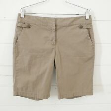Ann Taylor Womens Bermuda Shorts Walking Signature Fit  Sz 10 Lower Waist Brown