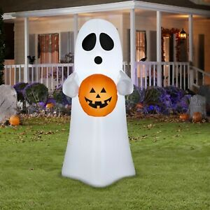 Airblown Inflatables Blow Up Halloween Spooky Ghost Pumpkin Yard Lawn Decor 4'