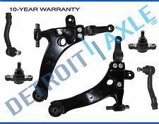 New 6pc Lower Control Arms + Ball Joints + Outer Tie Rod Ends for Hyundai Sonata