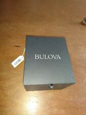 Bulova 96B299 Leather Mens Watch with Stainless Steel Case Leather Military