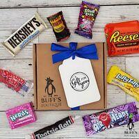 American USA Sweet Candy Hamper Gift Box Birthday Present Reeses Hershey Nerds..