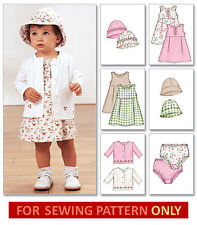 SEWING PATTERN! MAKE DRESS~JACKET~HAT~PANTIES! BABY GIRL CLOTHES! SIZE 13-29 LBS