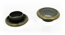 Cigar Box Guitar Parts: 25pc. 15mm Screened Antq Brass Grommets/Washers