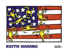 Keith Haring American Music Festival New York City Ballet, 1988 Flag Print 18x24