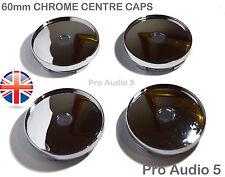 4x CHROME CENTRE CAPS 60mm Alloy Wheel VW Golf Audi bmw UNIVERSAL CENTER -UK