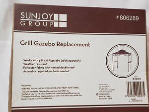 SUNJOY Grill Gazebo Replacement Canopy 5x8 # 806289