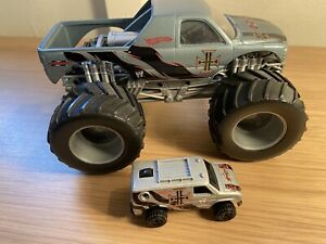 Hot Wheels 1/24 Triple H Monster Truck And Smaller One Bundle