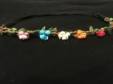 Floral hair bandeaux flower colour roses hairband fabric elastic band headband