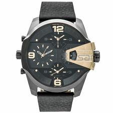 Diesel Original Men's DZ7377 Uber Chief Black Leather Strap Watch 55mm