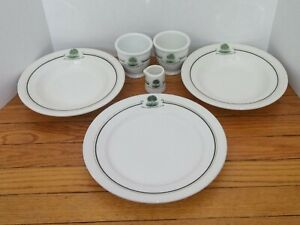 Vintage 6 Pc Lot South Shore Country Club Chicago Dinnerware Syracuse China