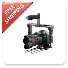 Camera Gear Box Cage Stabilizer Top Hand Grip wit 15mm Dual Rods Holder
